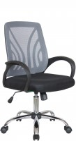 Офисное кресло RIVA CHAIR RCH 8099, серая сетка / черная ткань