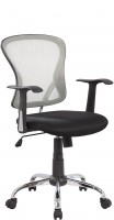 Офисное кресло RIVA CHAIR RCH 8104, серая сетка / черная ткань