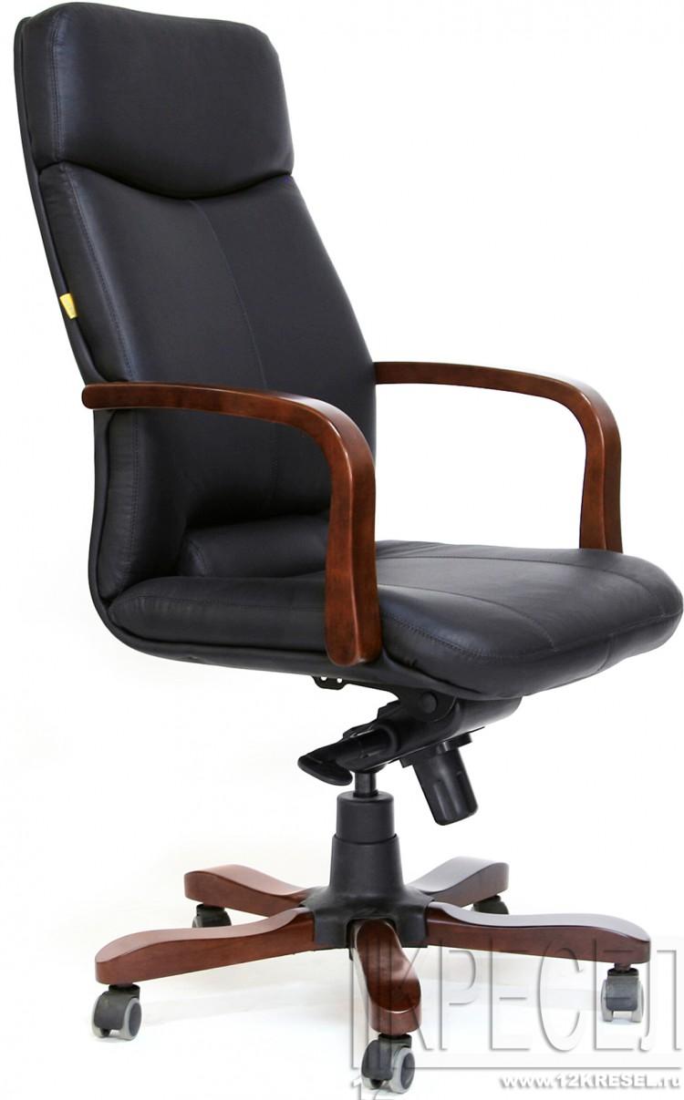 Кресло кожаное офисное фото