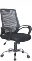 Офисное кресло RIVA CHAIR RCH 8081, черный пластик / черная ткань