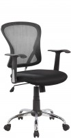 Офисное кресло RIVA CHAIR RCH 8104, черная сетка / ткань