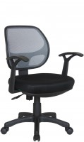 Офисное кресло RIVA CHAIR RCH 8063, серая сетка / черная ткань