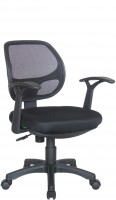 Офисное кресло RIVA CHAIR RCH 8063, черная сетка / ткань